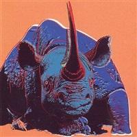 endangered species: black rhinoceros [ii.301] by andy warhol